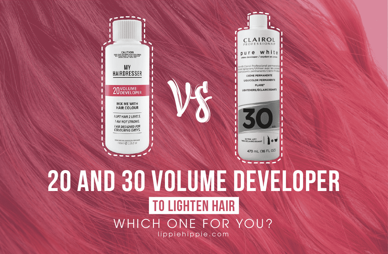 20 and 30 volume developer to lighten hair