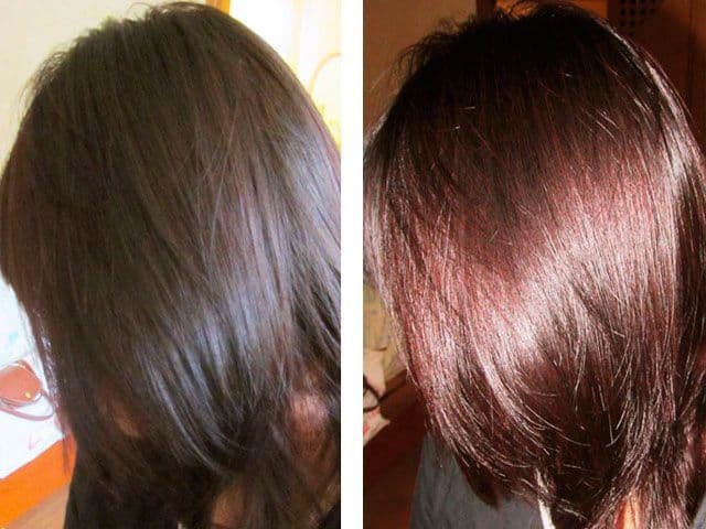 Effect of henna on hair
